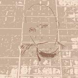 Schattenbildmann vektor abbildung