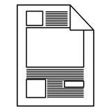 Schattenbildpapierblatttext und -graphiken vektor abbildung