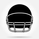 Schattenbildsymbol des amerikanischen Football-Helms Lizenzfreies Stockbild