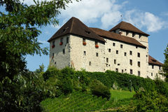 Schattenburg城堡, Feldkirch,奥地利 免版税库存图片