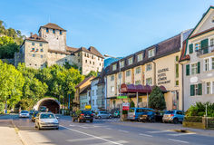 The Schattenburg castle in Feldkirch. Royalty Free Stock Images
