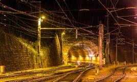 Schattenburg railway tunnel in Feldkirch Stock Photos