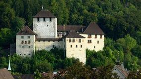 Schattenburg slott, Feldkirch, Österrike arkivbilder