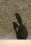 Schattenmesswert des Mannes Stockfotos