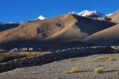 Schattierte Berge Stockfotografie
