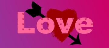 Schattierte Zusammenfassung der Liebe rotes Rosa lizenzfreie abbildung