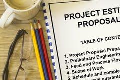 Schatting en suggestie voor projecten royalty-vrije stock afbeelding