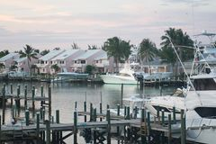 Schatz Cay Resort Bay auf größerem Abakus, Bahamas stockbilder