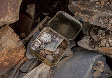 Schatz in den Felsen Stockbilder