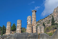 Schatz der Athenians am Delphi-Orakel Lizenzfreie Stockbilder