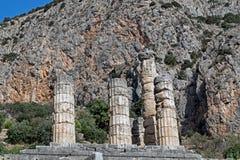 Schatz der Athenians am Delphi-Orakel Stockbild