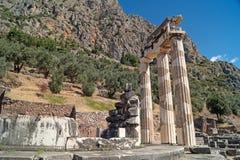 Schatz der Athenians am Delphi-Orakel Stockfotografie