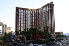 Schatz-Insel-Hotel in Las Vegas Stockbilder