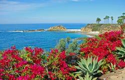 Schatz-Insel nahe Montage-Erholungsort, Laguna Beach lizenzfreie stockbilder