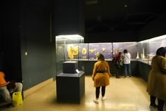 Schatz Königs Tutankhamen, ägyptisches Museum stockbild