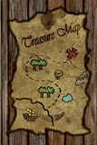 Schatz-Karte Lizenzfreie Stockbilder