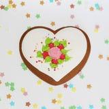 Schatz - Lebkuchen für Valentinstag oder ein Geschenk für geliebte stockbild