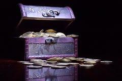 Schatz-Münzen Stockfotos