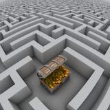 Schatzkasten im Labyrinth Lizenzfreies Stockbild
