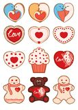 Schatzplätzchen Valentinsgruß ` s Tag Stockbild