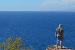 Schauen über Ozean Lizenzfreies Stockbild