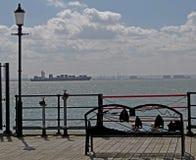 Schauen über Themse-Mündung von Southend-Pier Stockfoto