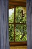 Schauen durch ein Fenster lizenzfreies stockbild