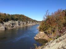 Schauen hinunter das Potomac stockbild