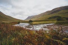 Schauen hinunter Glen Etive landschaft stockbilder