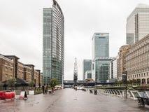 Schauen Ost vom Museum von London-Docklands in Richtung zu den Docklands Li Stockfotografie
