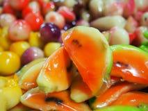 Schauen Sie Choop, thailändischen Nachtisch. Lizenzfreie Stockfotos