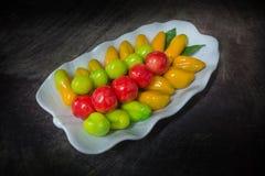 SCHAUEN SIE DÖBEL--Traditioneller thailändischer Snack Stockfotos