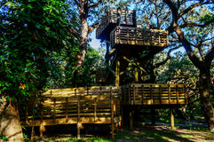 Schauen Sie heraus Turm im Wald Lizenzfreie Stockbilder