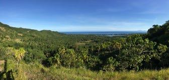 Schauen Sie heraus von den Hügeln in Anda Stockfoto