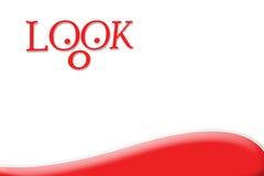 Schauen Sie, nach interessantem etwas suchend - Rot Lizenzfreie Stockfotografie