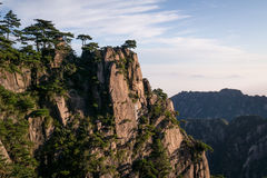 Schauen Sie oben Huangshan-Berg stockfotos