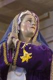 Schauen Sie von den Schmerz von Mary, Mutter von Jesus Christ Stockbild