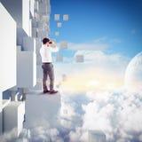 Schauen Sie zur Zukunft Stockbilder