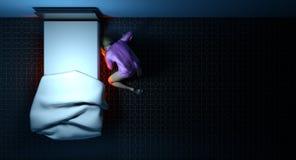 Schauen unter dem Bett Lizenzfreies Stockfoto
