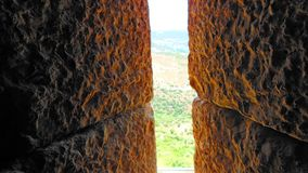 Schauen vom Drehkopf Nimrod Fortresss stockfoto
