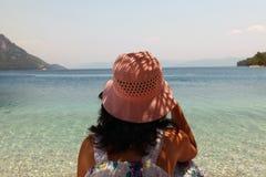 Schauen von Meer Stockfotos