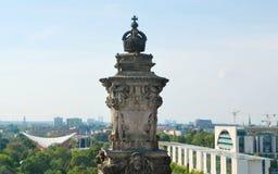 Schauen zur Stadt von der Reichstag-Abdeckung Stockbilder