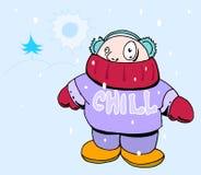 Schauer in der Winterzeit lizenzfreie abbildung