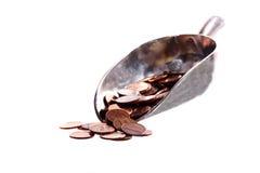 Schaufel der panamesischen Cents Stockfotografie