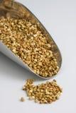Schaufel des Buchweizens (kasha), geröstetes vollständiges Korn stockbilder