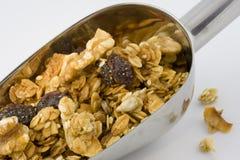 Schaufel des gesunden, organischen Granolas lizenzfreies stockfoto