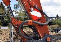 Schaufel hydraulisch von einem Gräber lizenzfreie stockfotografie