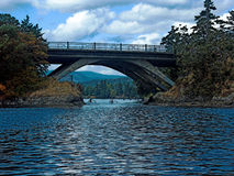 Schaufeln unter der Schlucht-Brücke Lizenzfreie Stockbilder