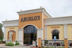 Schaufenster Abuelos des mexikanischen Lebensmittel-Botschafts-Restaurants Stockfotografie