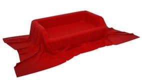 Schaukastenbedienpult abgedeckt mit Tuch vektor abbildung